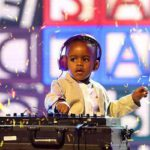 Three year-old DJ Arch Junior wows guests