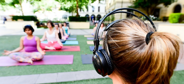 Silent Yoga Summer Sessions